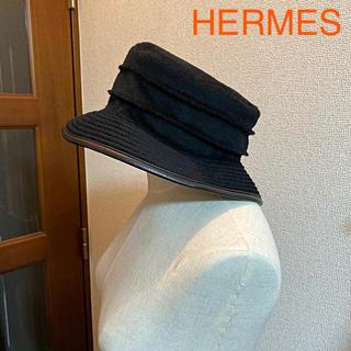 エルメス(Hermes)の未使用 エルメス 上質カシミヤ ラグジュアリー ハット(ハット)