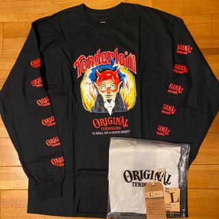テンダーロイン(TENDERLOIN)の人気品! TENDERLOIN 長袖 Tシャツ ロンT オールドニック ON 黒(Tシャツ/カットソー(七分/長袖))