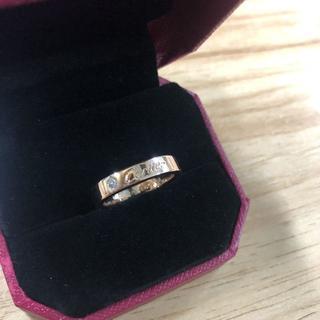 カルティエ(Cartier)のカルティエ リング一粒ダイヤピンクゴールド(リング(指輪))