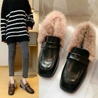 新作 全二色 韓国  もこもこ クロス   ブーツ   靴(ブーツ)