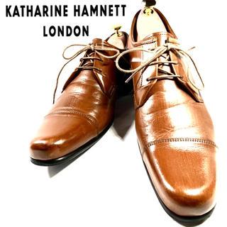 KATHARINE HAMNETT - ★極美品★ キャサリンハムネット ビジネスシューズ ストレートチップ ブラウン