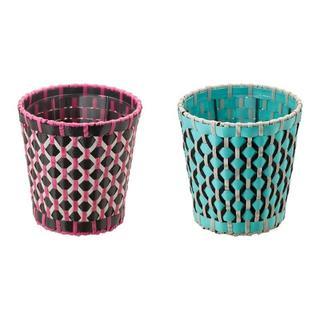 イケア(IKEA)の2個 IKEAの植木鉢カバー(プランター)