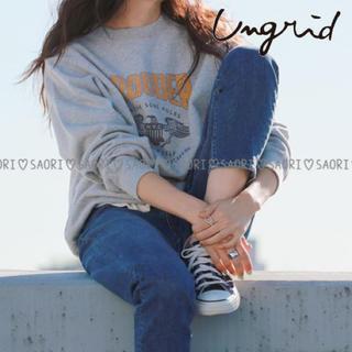 アングリッド(Ungrid)のUngrid【美品】PROUDERプリントスウェット★TODAYFUL(トレーナー/スウェット)