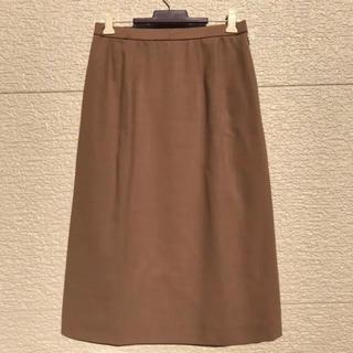 レリアン(leilian)のLeilian レリアン スカート ブラウン ベージュ 9(ひざ丈スカート)