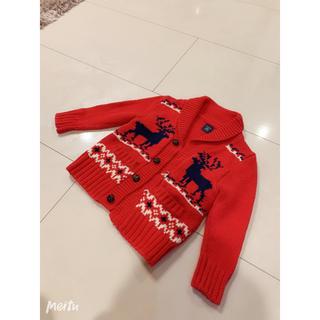 ギャップ(GAP)の赤クリスマスセーター(ニット)