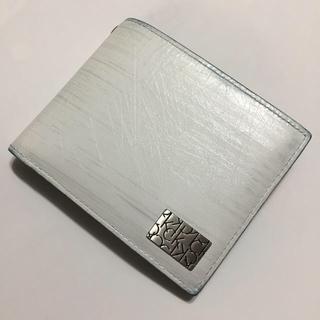 カルバンクライン(Calvin Klein)のCalvin Klein  折り財布  シロ(折り財布)