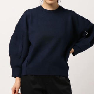 BENETTON - BENETTON  ミラノリブ袖デザインニットセーター ブラック