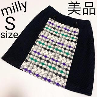 ミリー(Milly)の美品 milly ツイード スカート(ミニスカート)