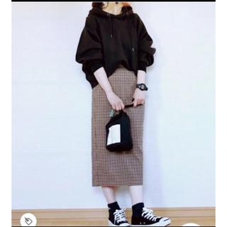 ジーユー(GU)のGU♡ナローミディースカート ガンクラブチェック(ロングスカート)