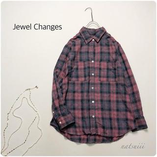 ジュエルチェンジズ(Jewel Changes)のJewel Changes . 後染め 起毛 チェック ブラウス(シャツ/ブラウス(長袖/七分))