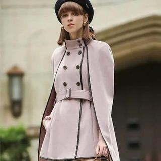 eimy istoire - エイミーイストワール パイピングデザインマントコート コート ピンク
