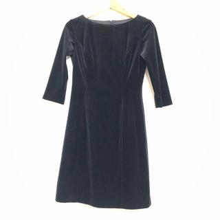 アトリエサブ(ATELIER SAB)のアトリエサブ ATELIE SAB ベロア ワンピース ドレス 黒 ブラック(ミニワンピース)