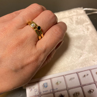 Bijumam poco ビジュマムポコ 天然石リング 2個セット(リング(指輪))