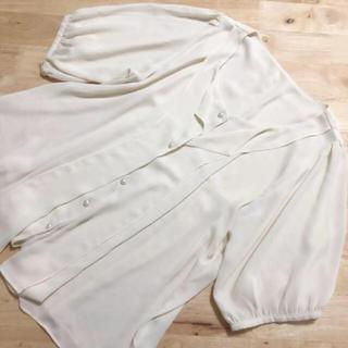 GU - 半袖 とろみブラウス オフホワイト Mサイズ UNIQLO GU