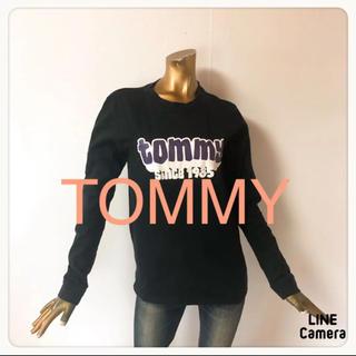 トミーヒルフィガー(TOMMY HILFIGER)の☘T1921☘TOMMY ロゴ 長袖 カットソー S(Tシャツ(長袖/七分))