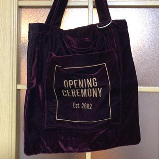 オープニングセレモニー(OPENING CEREMONY)のoc ベロア ボルドートート(トートバッグ)