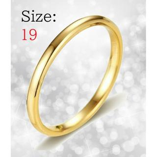 新品 リング レディース 指輪 ゴールド タングステン 送料無料 チェーン付き(リング(指輪))