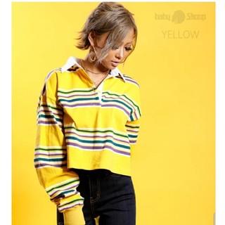 ベイビーシュープ(baby shoop)のボーダートップス(Tシャツ(長袖/七分))
