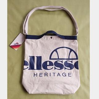 エレッセ(ellesse)のエレッセ  2WAYキャンバスショルダーバッグ  EAE6906R  ホワイト系(ショルダーバッグ)