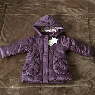 マザウェイズ(motherways)の新品♡マザウェイズ 女の子 アウター ジャンパー ジャケット 90 リボン 中綿(ジャケット/上着)
