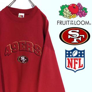 チャンピオン(Champion)の古着 USA製 NFL 49ers スウェット トレーナー フルーツオブザルーム(スウェット)