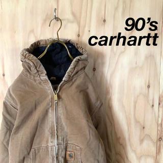 カーハート(carhartt)の90's carhartt  ダックパーカー アクティブジャケット キャメル(ブルゾン)