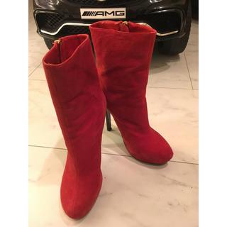 デュラス(DURAS)の赤 ミドルブーツ(ブーツ)