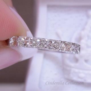 Pt900天然ダイヤモンド★八角形のハーフエタニティリング(リング(指輪))