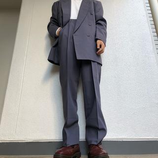 ジョンローレンスサリバン(JOHN LAWRENCE SULLIVAN)の80s vintage 激レア 紫 パープルグレー ダブル セットアップ スーツ(セットアップ)