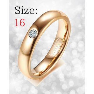 新品 リング レディース 指輪 ローズゴールド タングステン チェーン付き(リング(指輪))