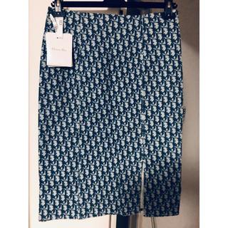 クリスチャンディオール(Christian Dior)のChristianDior 38トロッター 柄 スカート ヴィンテージ(ひざ丈スカート)