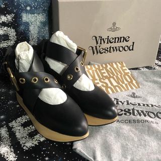 ヴィヴィアンウエストウッド(Vivienne Westwood)の新品 廃盤 ロッキンホース ベルトバックル UK4(ローファー/革靴)