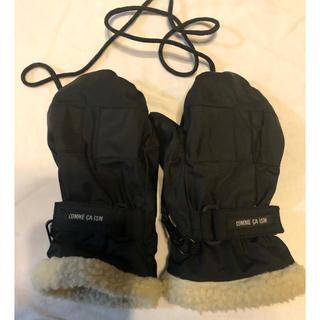 コムサイズム(COMME CA ISM)のコムサ 手袋 黒 キッズ(手袋)