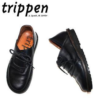 トリッペン(trippen)の正規品Trippen革靴/23.0-23.5cm/ダークネイビー(ローファー/革靴)