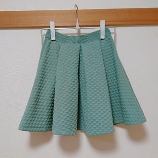 エイチアンドエム(H&M)のH&M ミニスカート グリーン くすみミント  緑 ミントグリーン ピスタチオ(ミニスカート)