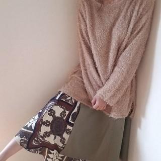 ワンウェイ(one*way)のスカーフ柄アシメスカート   新品未使用タグ付き(ロングスカート)