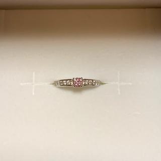 ジュエリーツツミ(JEWELRY TSUTSUMI)の天然ピンクダイヤモンド プラチナリング(リング(指輪))