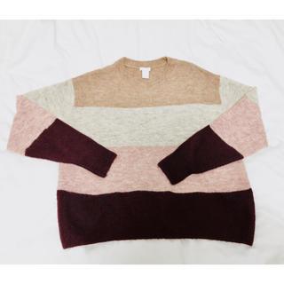 エイチアンドエム(H&M)の【H&M】レディース マルチカラーニットセーター(ニット/セーター)