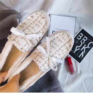 ザラ(ZARA)の【4color】ツイード チェック モカシンシューズ(ローファー/革靴)