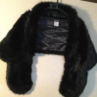 ZARA - ファー  ブラック 💕上品 お洋服又お着物でもオッケー💕