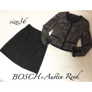 ボッシュ(BOSCH)の(48)BOSCH×Austin Reed❤︎36 ノーカラージャケットスカート(スーツ)