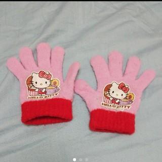 ハローキティ(ハローキティ)のハローキティ ピンク 五本指手袋 ベビー手袋(手袋)