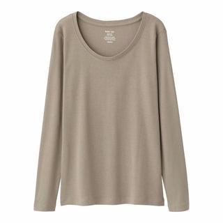GU - 新品タグ付き M オリーブ クルーネックTシャツ 綿100% 匿名配送
