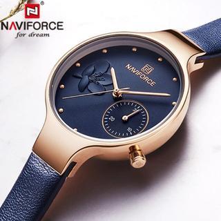 8本目✨高級海外ブランド✨本革 高品質 レディースウォッチ⭐ネイビー(腕時計)