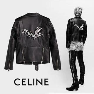 celine - 新品セリーヌ19年春夏 Cマークレー ウォッシュドレザーバイカー 44,46