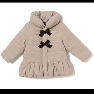 petit main - 新品♡プティマイン 120 コーデュロイ中綿入りリボンジャケット