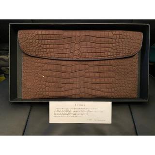 エルメス(Hermes)の新品同様 定価86万円 TMBH ポロサスクロコ 茶 おりつむ(小) クラッチ(セカンドバッグ/クラッチバッグ)