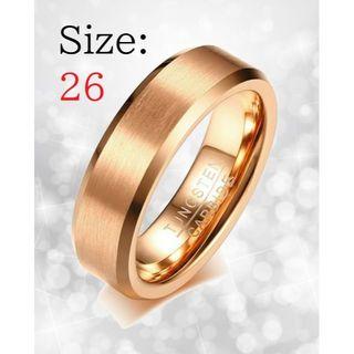 新品 リング メンズ 指輪 ローズゴールド タングステン 送料無料 チェーン付き(リング(指輪))
