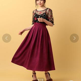 ミーア(MIIA)のMIIA 紫 スカート パープル ミモレスカート(ロングスカート)