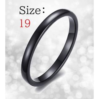 新品 リング レディース 指輪 ブラック タングステン 送料無料 チェーン付き(リング(指輪))